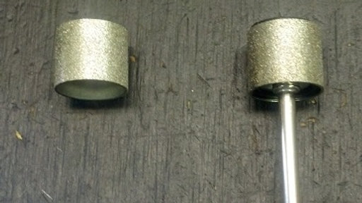 1/2 in Diamond Carbide Wheel w Mandrel