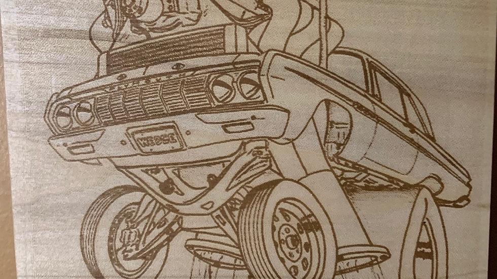 Laser engraved vehicles