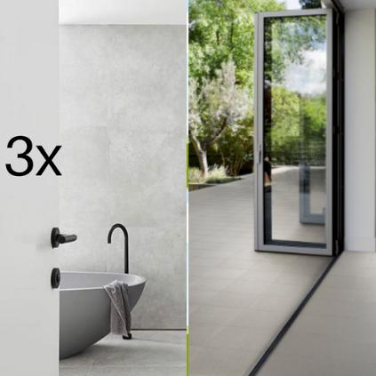 3x Bathrooms + Internal & External Floor