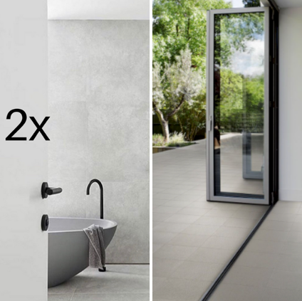 2x Bathrooms + Internal & External Floor