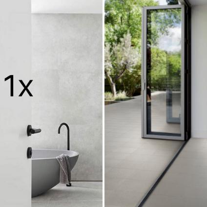 1x Bathroom + Internal & External Floor
