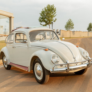 VW FUSCA 67 ORIGINAL COM TETO SOLAR - BRANCO LÓTUS