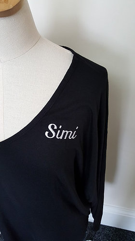 Additional embroidery -Small name/wording