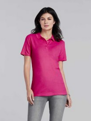 Ladies fitted Polo shirt - 1 x logo embroidered to chest