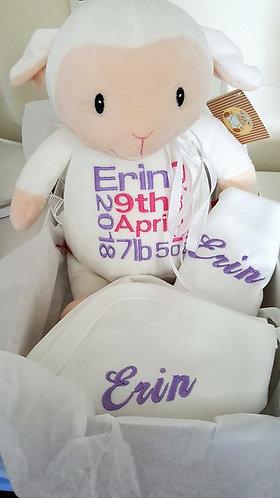 Gift set - Cherished (Cubbie, Bib & Blanket)
