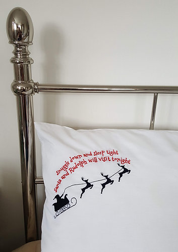 Personalised Christmas Eve Pillow case