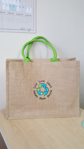 Recycling hessian tote bag