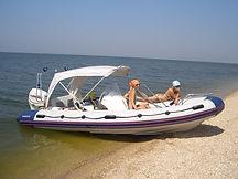 Надувная лодка пвх Буревестник 530