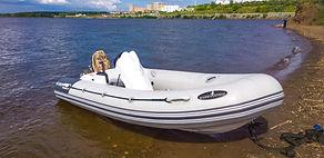 Надувная лодка пвх Буревестник 390