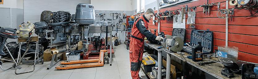 сервис и ремонт лодок