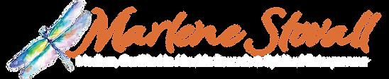 Marlene Stovall Logo Orange and white.pn