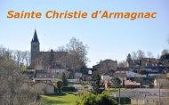Sainte Christie d'Armagnac Village gersois au patrimoine exceptionnel classé aux monuments historiques
