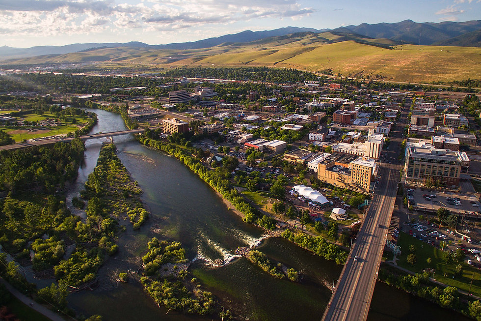 Missoula Montana from Above - Copyright