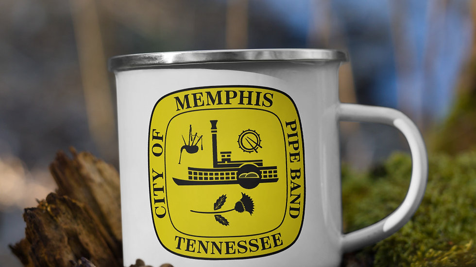 City of Memphis Pipe Band Enamel Mug