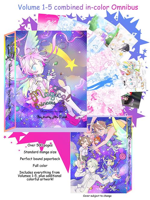 Magical Princess Sky color omnibus manga Volumes 1-5 combined