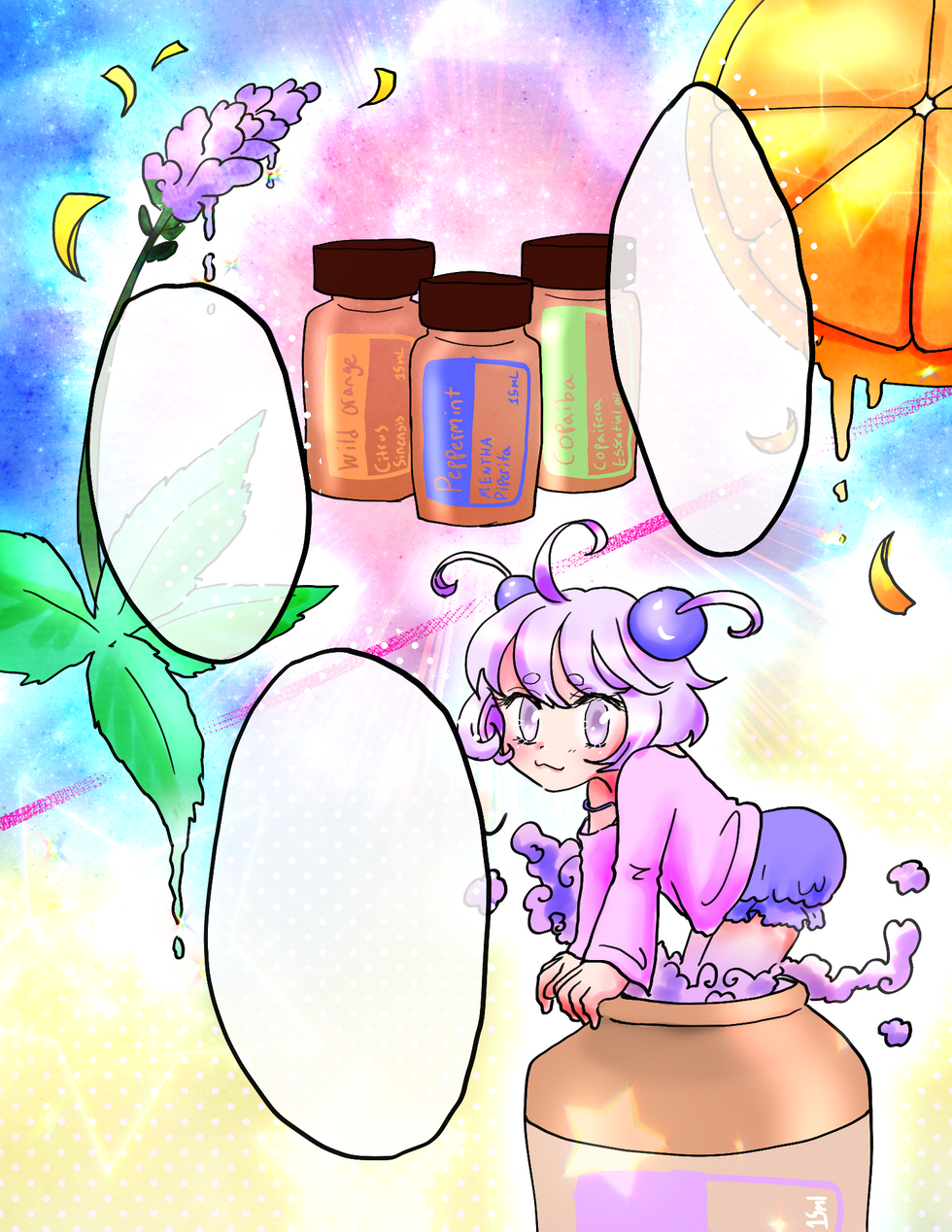 Freelance comic about essential oils for Choosing to Shine