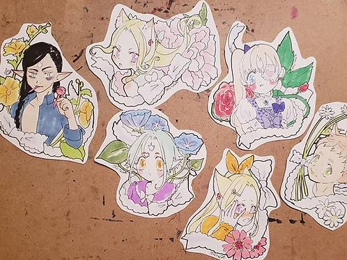 Full color sticker doodle commission