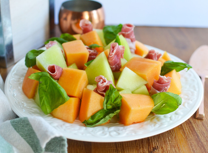 Prosciutto Roses & Melon Cubes - A Lovely Addition to your Summer Charcuterie