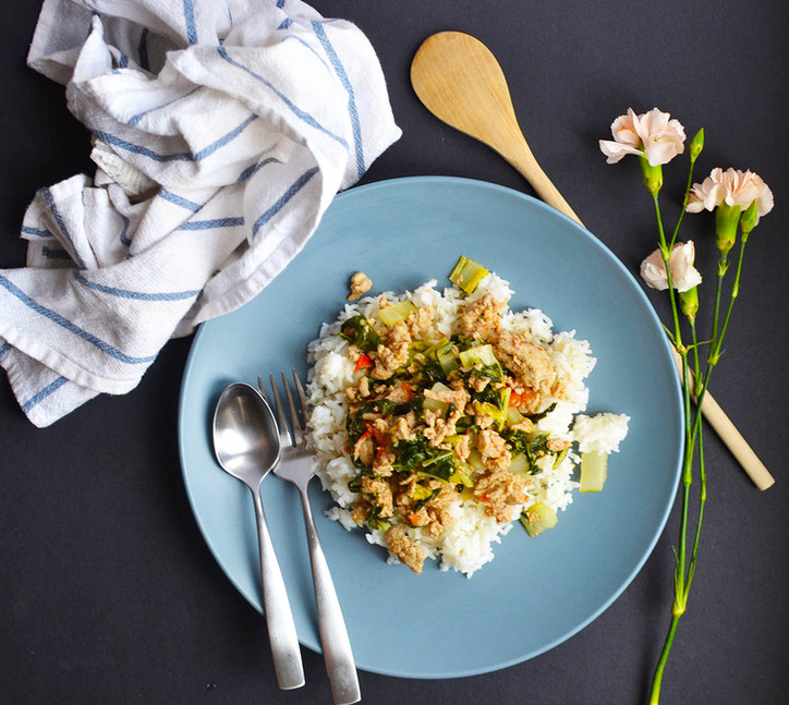 Giniling & Pechay - Ground turkey with Bokchoy #FilipinoFoodSessions