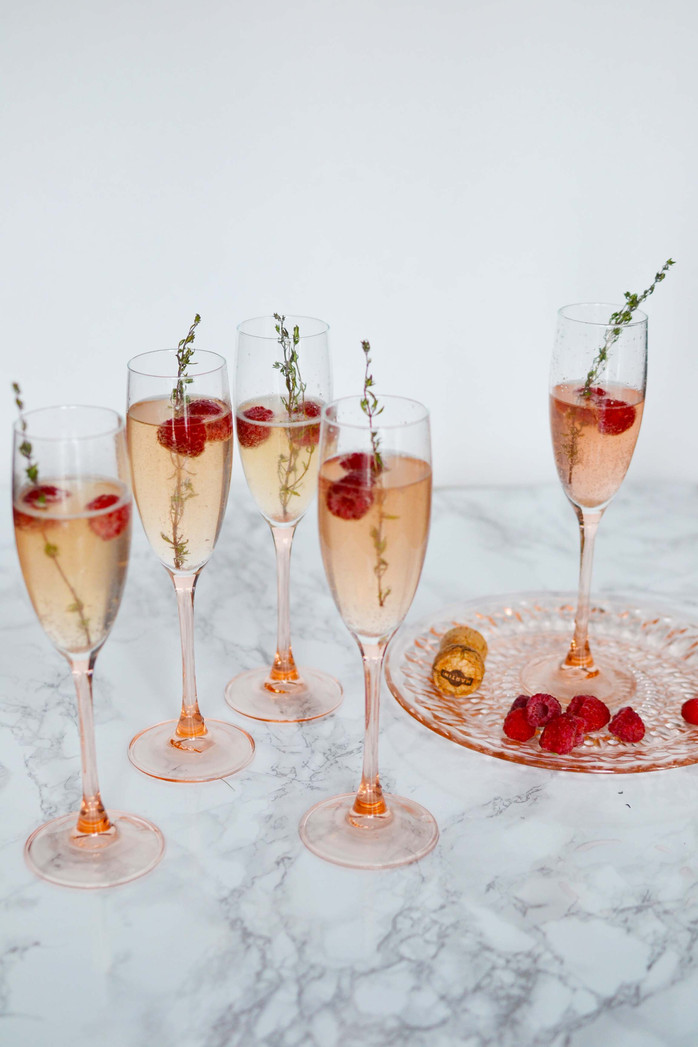 Pear-infused ombre champagne cocktails - YAS!!!
