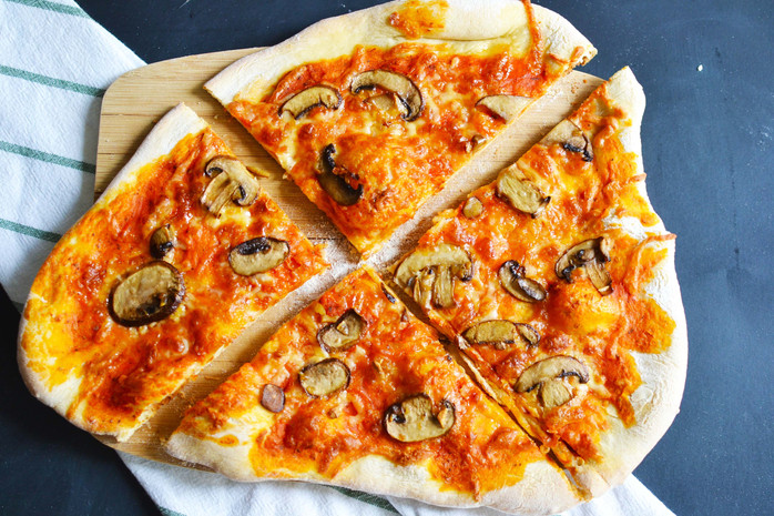 Oven baked thin crust pizza - Made right in your own kitchen...No pizza stone, no wood burning oven,