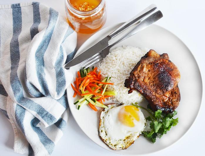 Vietnamese Style Pork Chop & Fried Egg