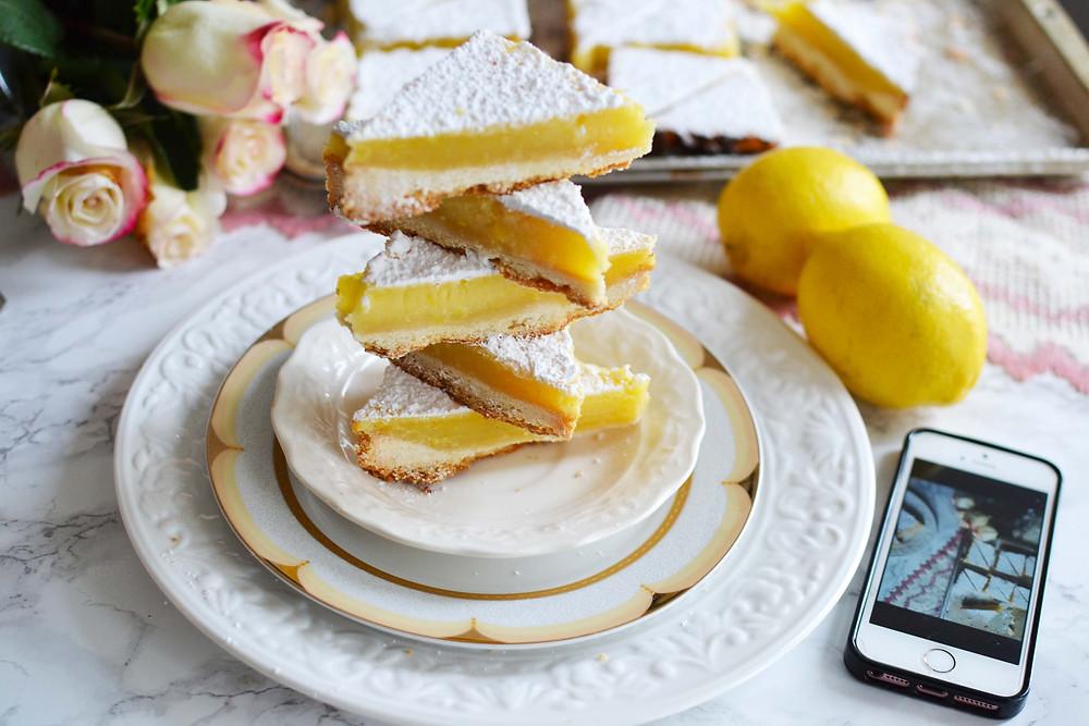 Lemon squares - toronto food blog recipe