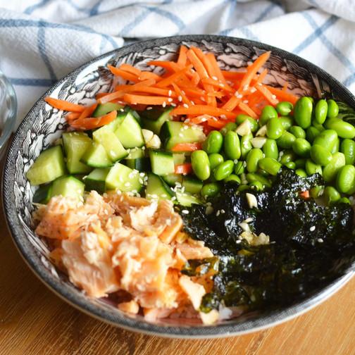 Baked Salmon Bowl