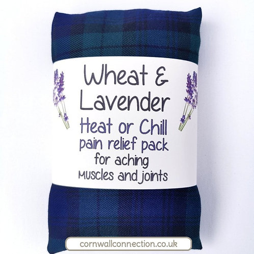 Wheat &Lavender bag - Heat pack/Chill pack - Healing, Pain relief - Blue tartan