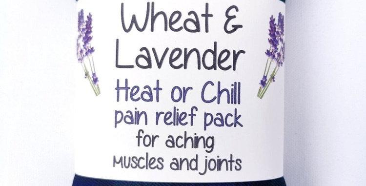 Wheat &Lavender bag - Heat pack/Chill pack - Healing, Pain relief - Blue tartan