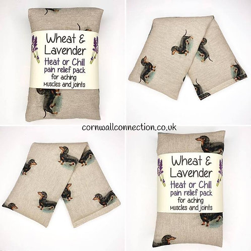 Wheat and Lavender bag - Heat pack/Chill pack - Healing, Pain relief, Dachshunds