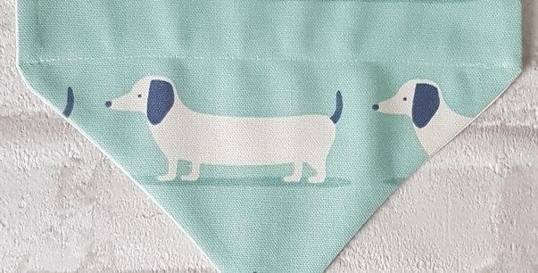 Dog Bandana- SMALL - DACHSUNDS - Dog neckerchief - Dog neckwear