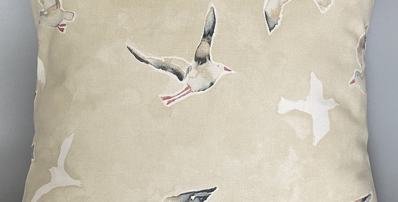 Flying Gulls cushion cover - Seagulls - Coastal - Nautical - Beach - Seaside