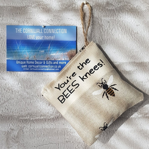 Scented Lavender Pouch - You're the BEES knees - Car, room, drawer fragrance