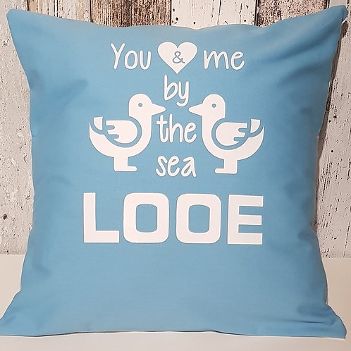 """You and me by the sea"" cushion with pad - 3 colours"