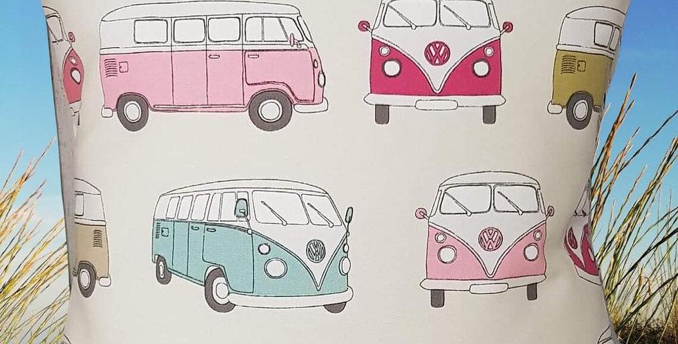 Camper van cushion cover  - PINK - VW Camper Van