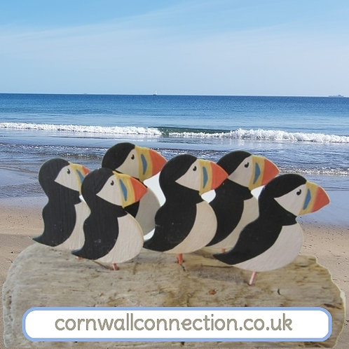 Puffins on driftwood! - By Shoeless Joe
