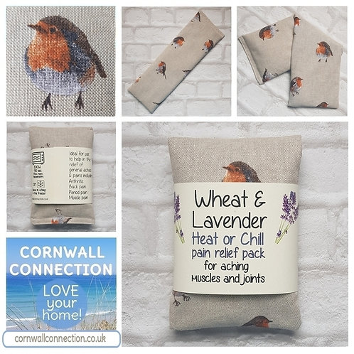 Wheat and Lavender bag - Heat pack/Chill pack - Healing, Pain relief, ROBINS