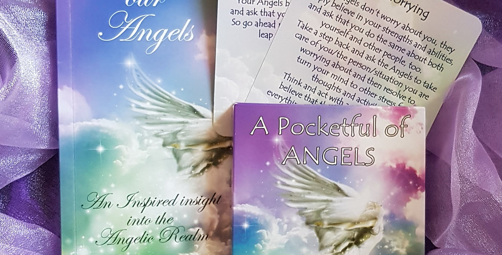 A Pocketful of Angels Message Cards AND Embracing our Angels book - by Mary Jac