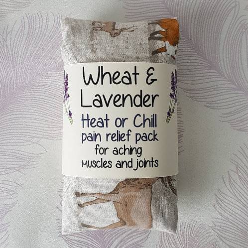Wheat and Lavender bag - Heat pack/Chill pack - Healing, Pain relief -Woodland