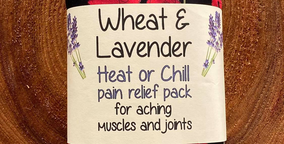 Wheat and Lavender Heat pack/Chill pack - Healing Pain relief - Poppies - BLACK