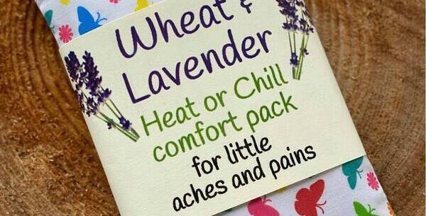 Wheat and Lavender Heat or Chill pack - BUTTERFLIES - Small