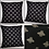 Thumbnail: BEE cushion cover - metallic GOLD bees on a black background
