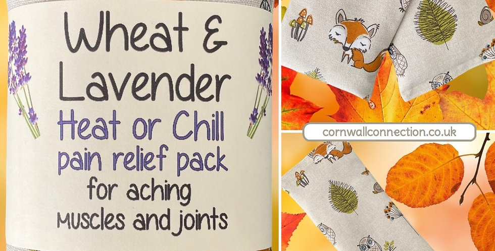 Wheat and Lavender bag - Heat pack/Chill pack - Healing, Pain relief, OWL FOX