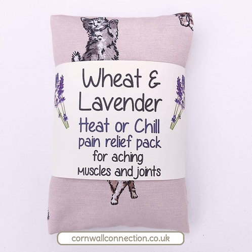 Wheat and Lavender bag - Heat pack/Chill pack - Healing Pain relief CATS KITTENS