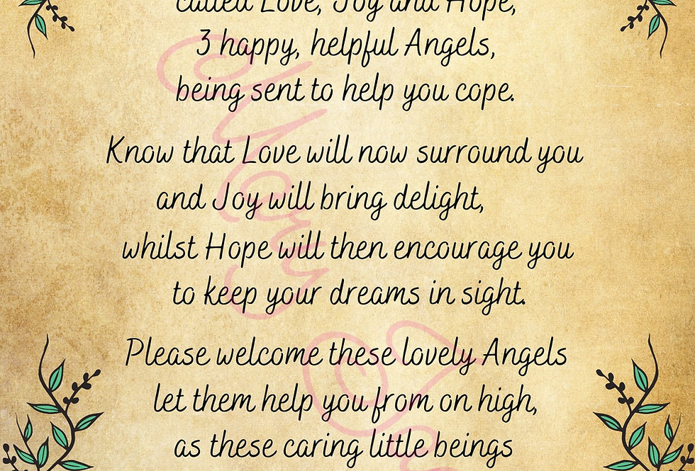 """Sending you Angels"" - the poem - Digital file download - 10"" x 8"" - JPG"