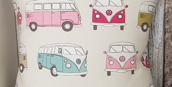 Camper van cushion cover  - PINK - VW Camper Van