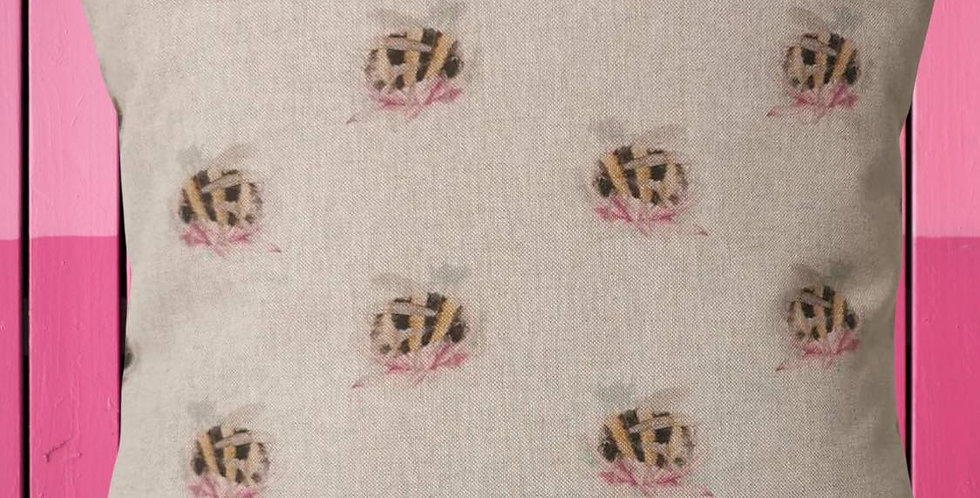 BEES cushion cover - Bumblebee - Bees and flowers - Countryside