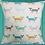 Thumbnail: Scandi Foxy fox print cushion cover - Ochre, Grey, Teal, Duck egg blue