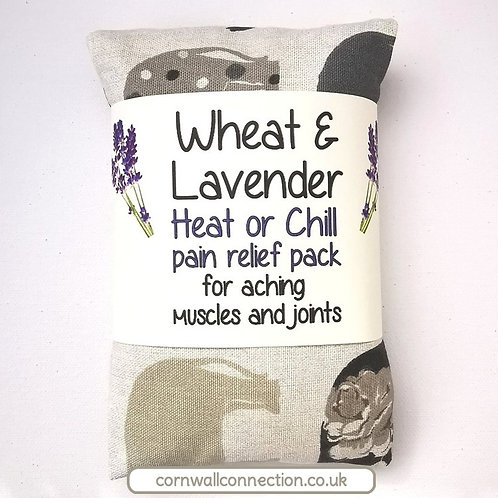Wheat & Lavender bag - Heat or Chill pack, Healing, Pain relief, Elephants